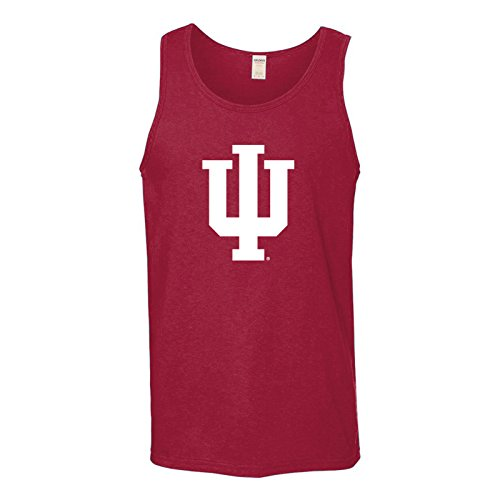 AT02 - Indiana Hoosiers Primary Logo Mens Tank Top - Small - Cardinal
