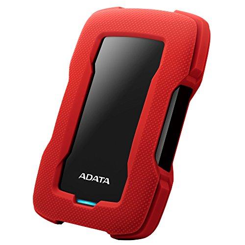 ADATA HD330 4TB USB 3.1 Shock-Resistant Extra Slim External Hard Drive Red (Shock Resistant Portable Hard Drive)