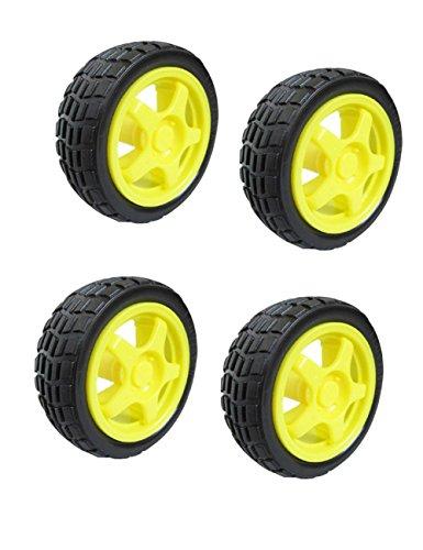 AutoEC 68mm Smart Car Robot Tire Wheel (Pack of 4) -