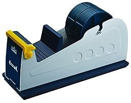 T.R.U. ET-227 Blue/Grey Premium Twin-Roll Steel Desk Top Dispenser: 2 in. wide (3 in. core)