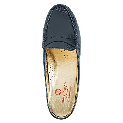 York New Women's Navy Union Marc Patent Tumbled Mule Joseph 6qOwgg