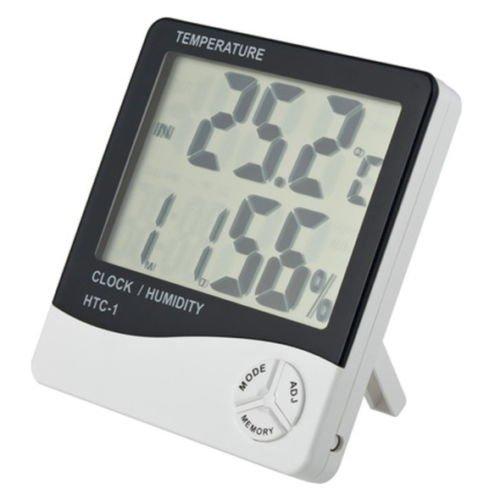 New LCD Digital Alarm Clock Thermometer Temperature Humidity Hygrometer ()