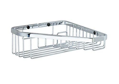 Corner Wall Mounted Shower Rack w/ Shelf 1-tier. Polished Chrome, Shower Caddies Brass Made in Spain (European Brand) … by Manillon Torrent
