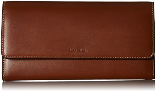 Lodis Audrey RFID Luna Clutch Wallet, sequoia/papaya