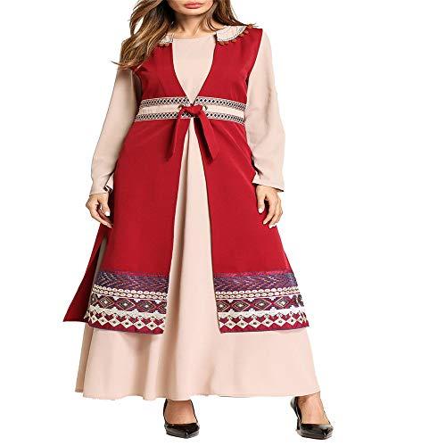 Robes Pezzi Festival dimensione Abito Costume A Ricamato Lungo Gulben Melodycp L Due Musulmano qO6gBSw