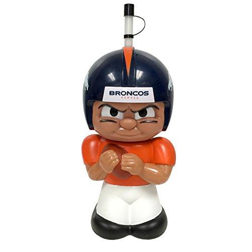 (NFL Denver Broncos Player Teenymates Big Sip Tumbler Bottle, 16 oz, Blue)