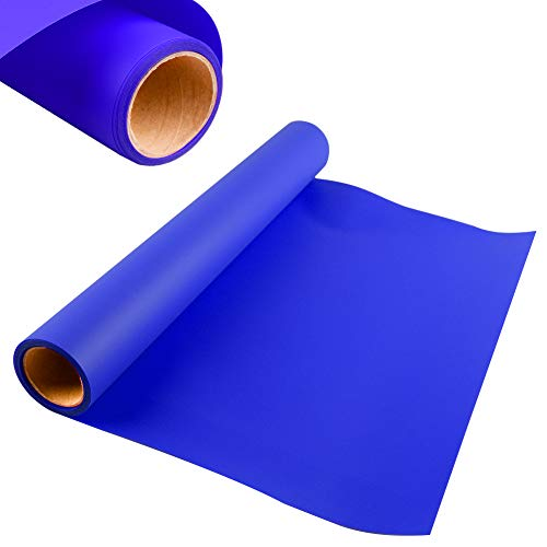 HTV Heat Transfer Vinyl for T-Shirts, KISSWILL 12 Inches by 6 Feet Iron on Vinyl Roll Compatible with Silhouette Cameo Cricut or Heat Press (Blue)