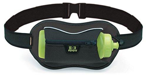 Running Full Tilt AirStretch Velocity bottle hydration waistpack carrier by Amphipod Black
