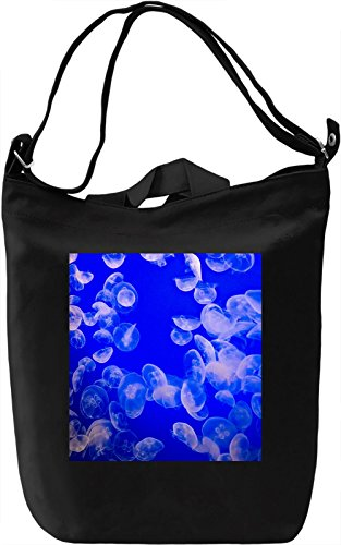 Jellyfish Pattern Borsa Giornaliera Canvas Canvas Day Bag| 100% Premium Cotton Canvas| DTG Printing|