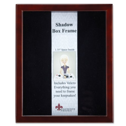 Lawrence Frames 790180 Espresso Wood Shadow Box Picture Fram