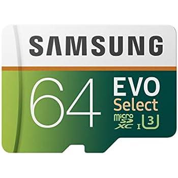 Samsung 64GB 100MB/s (U3) MicroSDXC EVO Select Memory Card with Full-Size Adapter (MB-ME64GA/AM)