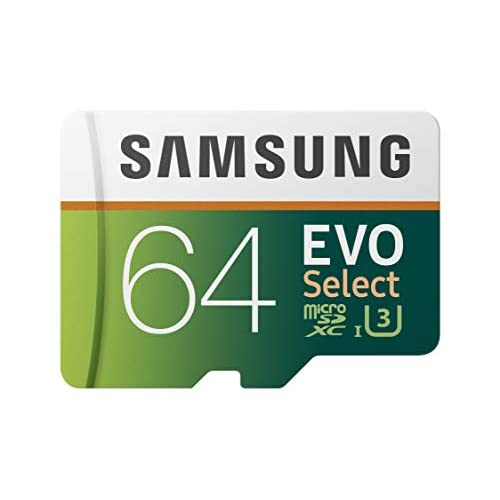 Samsung 64GB 100MB/s (U3) MicroSD EVO Select Memory Card with Adapter (MB-ME64GA/AM)