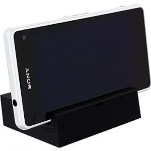Dock Station Charger Estacion de carga Magnetica Sony Xperia Z1 Compact Negro