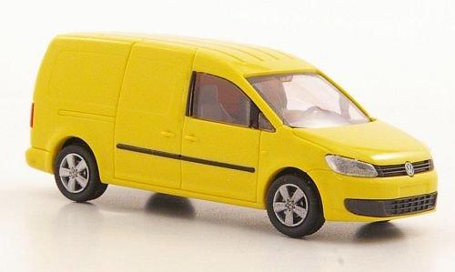 VW Caddy Maxi Kasten, gelb, 2011, Modellauto, Fertigmodell, Rietze 1:87