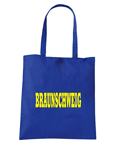 T-Shirtshock - Bolsa para la compra WC0826 BRAUNSCHWEIG GERMANY CITY Azul Real