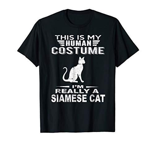 Super Halloween Costume Siamese Cat Tshirt Heart Kids Adults for $<!--$16.95-->