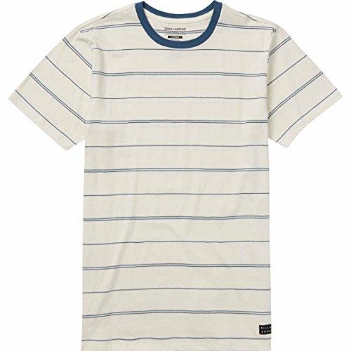 Billabong Men's Die Cut Stripe Short Sleeve Crew T-Shirt Rock (Die Cut Top)