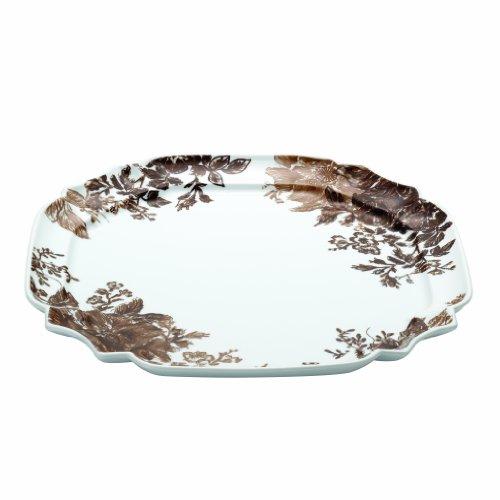 - Paula Deen Signature Dinnerware Tatnall Street 13.25-Inch Square Serving Platter, Coffee Bean