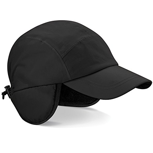 Beechfield Unisex Mountain Waterproof & Breathable Baseball Cap (One Size) (Black)