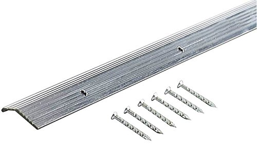 M-D Building Products 78006 Fluted 7/8-Inch by 36-Inch Carpet Trim, Silver (Fluted Silver Bar Carpet)