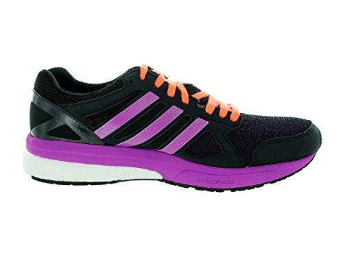 Adidas Womens Adizero Tempo 7 W Scarpa Da Corsa Nero / Viola / Pesca