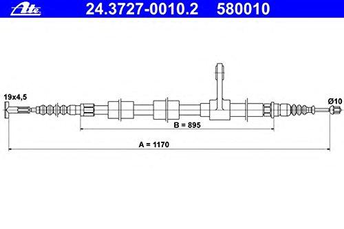 ATE 24372700102 Câ ble de frein ATE 24372700102 Câble de frein 24.3727-0010.2