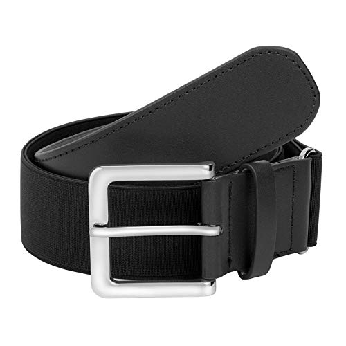 LEACOOLKEY Men Baseball Belt-Youth/Adult Baseball Belt-Baseball/Softball Uniform Men Belt Black Color(35-44 inches)