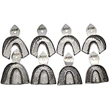 Dental Impression trays 8 small medium large and extra large pairs stainless steel by Wise Linkers USA