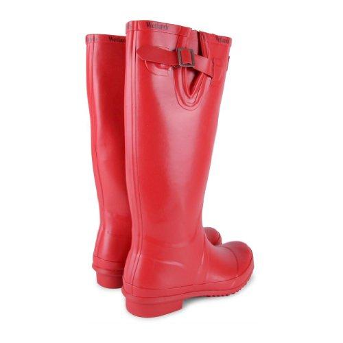 Donna rosso Gomma Di Sensation Footwear Stivali Rosso SyBqIyZwc