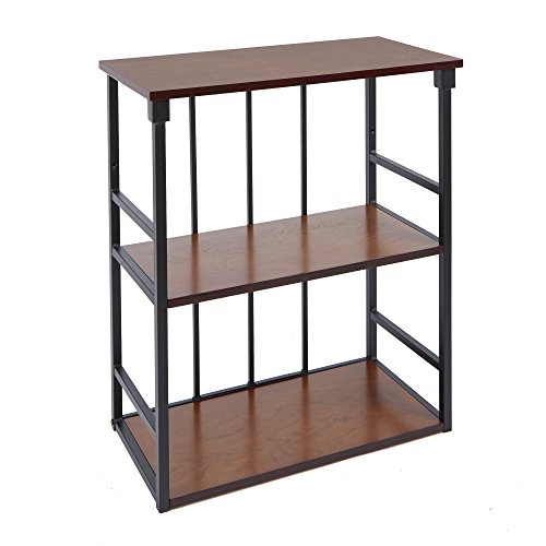"""Silverwood Mixed Material Bathroom Collection 3-Tier Wall Shelf 3, 24"""" W x 28"""" H, Oil Rubbed Bronze"""