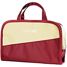 MR. YLLS Travel Toiletry Bag for Men and Women | Clear Makeup Bag | Cosmetic Bag | Bathroom and Shower Organizer Kit(Khaki and Wine Red)