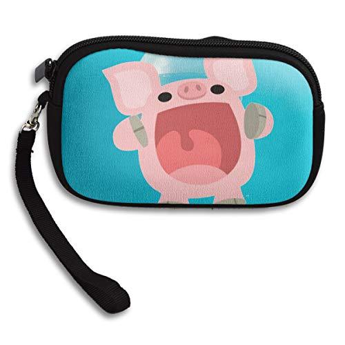 Bag Pig Deluxe Cartoon Printing Small Cute Portable Purse Receiving O8HSTx