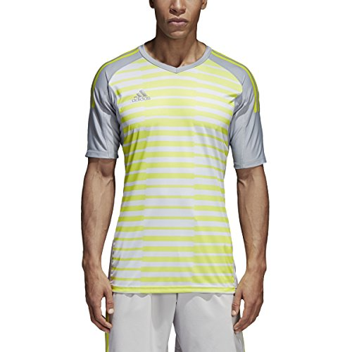 Goalkeeping Graphic Jersey (adidas adiPro 18 Short Sleeve Goalkeeper Jersey - Men's Soccer YL Light Grey/Grey/Solar Yellow)