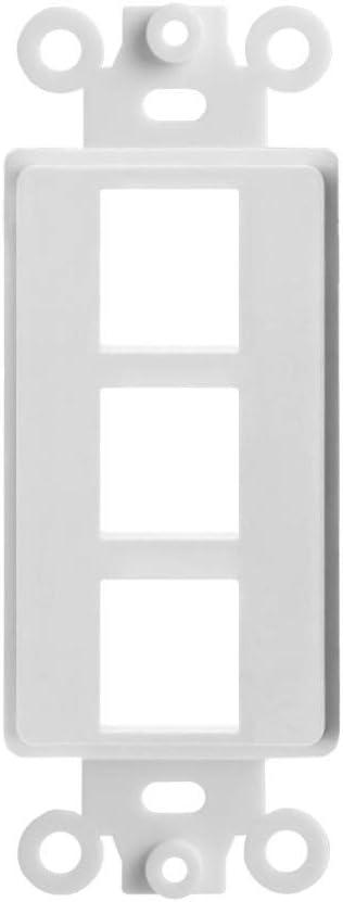 Cmple - 3 Port Decora Wall Plate 1-Gang Keystone Decora Insert, Jack Single Gang Decora Wall Plate