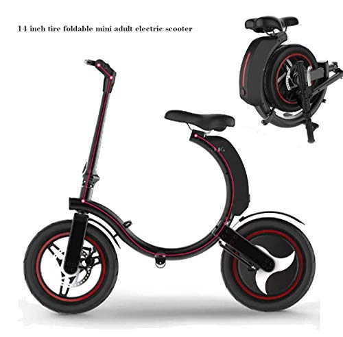 FUNBYKE Mini Foldable Electric Bicycle Scooter for Adults, 14'' Tires 480W Brushless Motor 48V 13AH Lithium Battery Smart E-Bike with Smart HD Indicator Panel