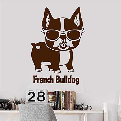 zhuziji Vinilo Tatuajes de Pared Bulldog Francés Pet Shop Gafas de ...