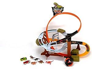 Dickie-Spielzeug 203759000 - Autorennbahn Dino Tower, Auto- und Verkehrsmodelle