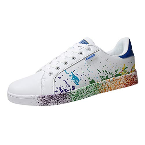 Sunhusing Women's Color Graffiti White Shoes Sports Shoes Running Shoes Men Women Casual Shoes Lovers Shoes