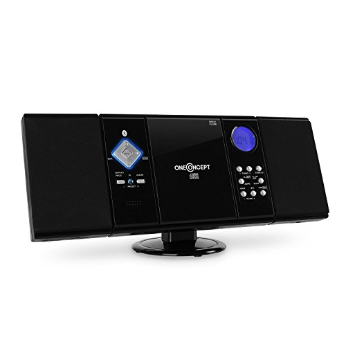 oneConcept V-12-BT Stereoanlage Bluetooth Anlage (MP3-fähig, Radio-Tuner, Fernbedienung, Wurfantenne) schwarz