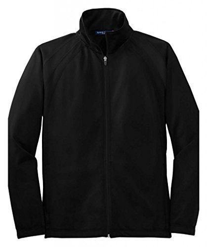 Black Track Jacket - Sport-Tek Men's Tricot Track Jacket L Black/Black