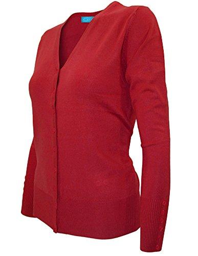 Cielo Womens Classic Knit Silk Soft Cardigan Sweater, V-neck