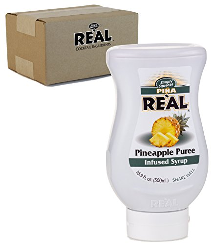 Piña Reàl, Pineapple Puree Infused Syrup, 16.9 FL OZ Squeezable Bottle (Pack of ()