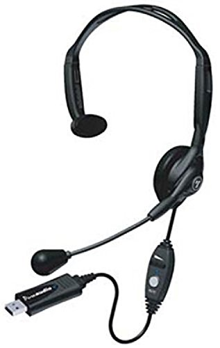 Andrea Communications NC-121VM USB PC Noise Canceling Monaural Headset, Noise Canceling Microphone Technology That Removes Background Noise and Speaker Noise for Optimal Intelligibility ()