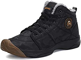 Mishansha Mens Womens Winter Camo Snow Boot Outdoor Waterproof Slip On Athletic Casual Walking Ankle Boots