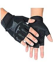 قفازات نصف أصابع لتدريبات صالة الألعاب الرياضية وركوب الدرجات ورفع الأثقال وتدريبات كمال الأجسام