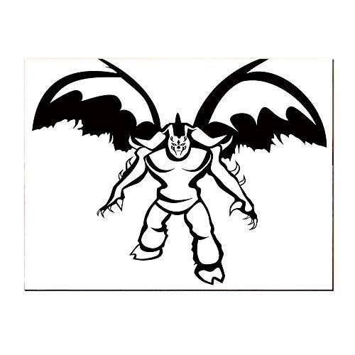 SATVSHOP Art Wall painting-20Lx40W-Video Game Illidan Stormrage Illustration Demon Hunter The Betrayer Night Elf and Sorcerer Black White.Self-Adhesive backplane/Detachable Modern Decorative Art.]()