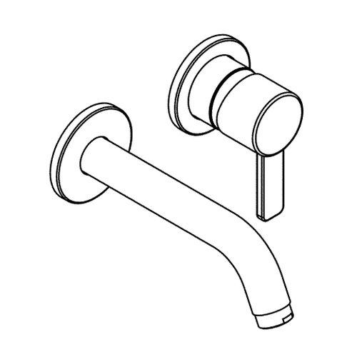 Kludi Zenta 382440575 Single Lever Washbasin Mixer Tap Two Hole Wall