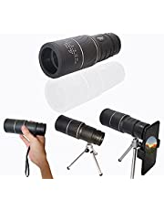 Akingshop Monocular Telescope, 8x40 Waterproof Monocular with Smartphone Holder & Tripod, Clear FMC BAK4 Prism Pocket Telescope, Great for Birds Watching, Wildlife, Hunting, Camping, Hiking, Tourism