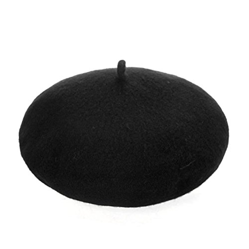 Iuhan® Fashion Boys and Girls Children Wool French Beret Girl's Artist Hat (Black (Boys Beret)