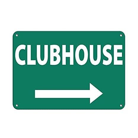 Amazon.com: Personalizado señales de metal derecha Clubhouse ...